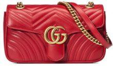 Gucci - GG Marmont small matelassé shoulder bag - women - Leather/Microfibre - One Size - Rosso
