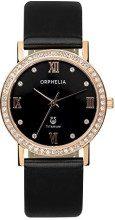 Orphelia OR22172444 - Orologio da polso da donna, cinturino in pelle colore nero