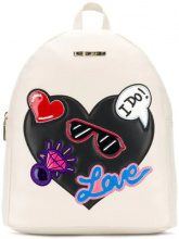 Love Moschino - logo patch-work backpack - women - Leather - OS - Color carne & neutri