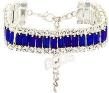 Gcds - Bracciale con cristalli - women - Crystal/Metal (Other) - One Size - Blu