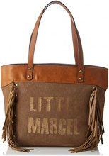 Little Marcel Vi01 - Borse a spalla Donna, Beige, 14x31x42 cm (W x H L)