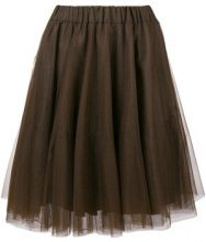 P.A.R.O.S.H. - pleated tulle skirt - women - Polyamide/Acetate/Viscose - XS, S, M - BROWN
