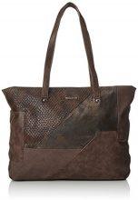 Tamaris Bimba Shopping Bag - Borse a secchiello Donna, Braun (Dark Brown Comb), 12x32x34 cm (B x H T)
