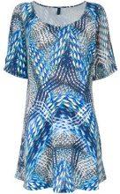 - Lygia & Nanny - 'Batuira' printed tunic - women - fibra sintetica - 38, 46, 48 - di colore blu