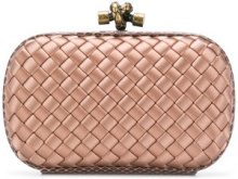 Bottega Veneta - pink Intrecciato impero knot - women - Snake Skin/Satin - One Size - Color carne & neutri
