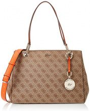 Guess Hobo, Borsa a Tracolla Donna, Multicolore (Brown Multi), 15x24x32.5 cm (W x H x L)