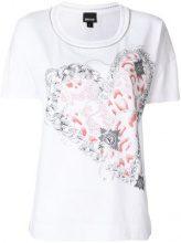 Just Cavalli - T-shirt con cuore stampato - women - Cotone - S, M - WHITE