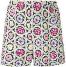 Moschino Vintage - flower print shorts - women - Cotone - 42 - Nero