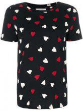 Chinti & Parker - T-shirt 'Confetti Heart' - women - Organic Cotton - XS, S, M, L - Nero