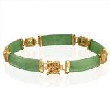 Bling Jewelry 7.5in tono d'argento CZ verde smeraldo Colore Bracciale Tennis