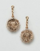 Orecchini oro a cerchio con ciondolo a forma di medusa