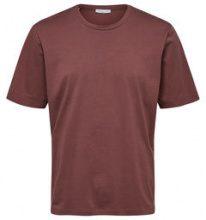 SELECTED Plain - T-shirt Men Brown