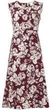 'S Max Mara - floral sleeveless midi dress - women - Silk - 42, 44, 46 - Rosso