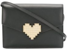 - Les Petits Joueurs - Borsa Clutch 'Lulu Heart' - women - pelle di vitello - Taglia Unica - di colore nero