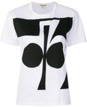 Junya Watanabe - T-shirt con stampa - women - Cotone - S, M - Bianco