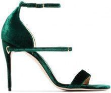 Jennifer Chamandi - emerald green Rolando 105 velvet sandals - women - Leather/Velvet - 35, 35.5, 36, 36.5, 37, 37.5, 38, 38.5, 39, 39.5, 40, 40.5,...