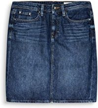 edc by Esprit 087cc1d015, Gonna Donna, Blu (Blue Dark Wash 901), 36