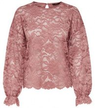 ONLY Lace Long Sleeved Top Women Beige