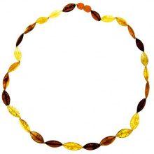 Nature d'Ambre 3170445 - Collana da donna con ambra, argento, 500 mm
