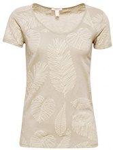 ESPRIT 048ee1k024, T-Shirt Donna, Verde (Light Khaki 345), X-Large