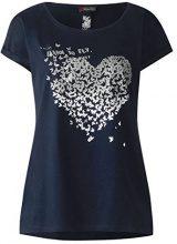 Street One 312276, T-Shirt Donna, Multicolore (White 30000), 42 (Taglia Produttore: 36)