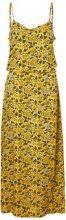 NOISY MAY Feminine Maxi Dress Women Yellow