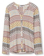 edc by Esprit 027cc1f004, Camicia Donna, (Light Beige), 40 (Taglia Produttore: Large)