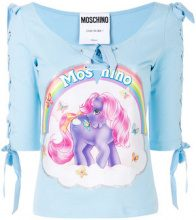 Moschino - Top My Little Pony - women - Silk/Cotone - 36, 38, 42, 40 - BLUE