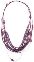 Fabiana Filippi - multi strand beaded necklace - women - Steel/glass - OS - PINK & PURPLE