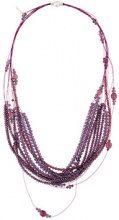 - Fabiana Filippi - multi strand beaded necklace - women - glass/acciaio - Taglia Unica - di colore rosa