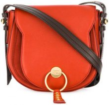 See By Chloé - Lumir medium saddle bag - women - Leather/Cotone - One Size - Rosso