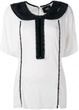 Cavalli Class - embellished collar blouse - women - Viscose - 42, 44, 46 - WHITE