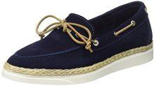 Marc O'Polo 70113993601300 Boat Shoe, Scarpe da Barca Donna, Blu (Blu Scuro e), 37 EU