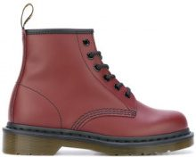 Dr. Martens - Stivali lucidi '101' - women - Leather/rubber - 37, 39, 40 - RED
