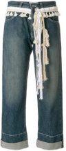 Loewe - Jeans con corda - women - Cotone - 36, 40, 34, 38 - Blu