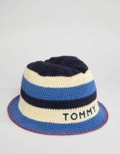 Tommy Hilfiger - Cappello da sole a righe con logo - Multicolore