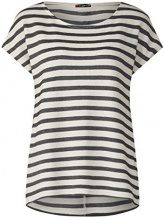 Street One 312039, T-Shirt Donna, Multicolore (off White 20108), 40