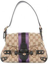 Gucci Vintage - horsebit shoulder bag - women - Canvas/Leather - OS - Marrone