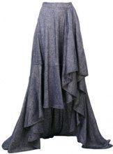 Talbot Runhof - Gonna asimmetrica - women - Linen/Flax/Spandex/Elastane/Viscose - 34, 36, 38, 40 - BLUE
