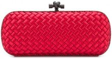Bottega Veneta - Stretch Knot clutch - women - Leather/Silk - OS - Rosso