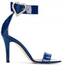 - Paris Texas - heart buckle sandals - women - Leather - 39, 37, 37.5, 40, 38, 36, 38.5 - Blu