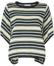 Astraet - T-shirt a righe - women - Cotone - OS - Verde