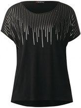 Street One 311632, T-Shirt Donna, Nero (Black 10001), 42