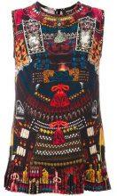 Dsquared2 - 'Samurai' print tank top - women - Silk - 38, 40, 44 - MULTICOLOUR