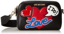 Love Moschino Borsa Nappa Pu Nero - Borse Baguette Donna, (Black), 8x13x18 cm (B x H T)