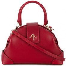 Manu Atelier - Borsa a spalla Demi - women - Leather - One Size - RED