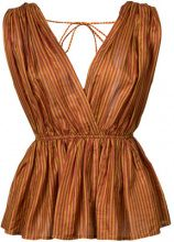 Mes Demoiselles - Chiquita sleeveless blouse - women - Silk - 40 - BROWN