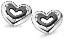 Orphelia dreambase-Orecchini in argento Sterling 925 rodiato zirconi bianco ZO-5012