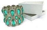 Braccialetto con gemme, turchese, In confezione regalo, gioielli e accessori da donna, alla moda