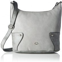 Gerry Weber Somersault Shoulderbag Lvz, Borsa a spalla Donna, Grigio (Light Grey), Taglia unica